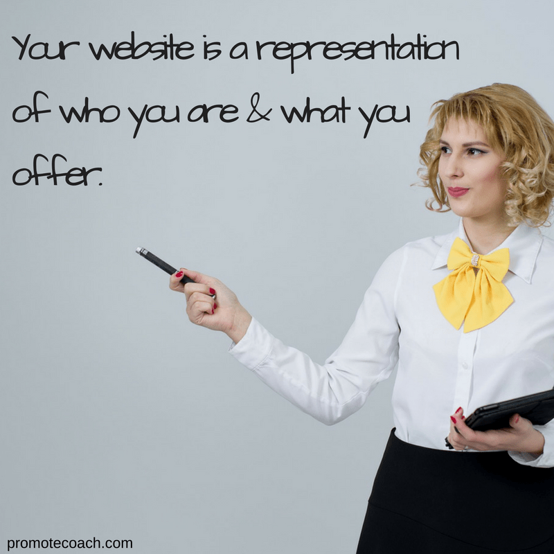 Your website represents you